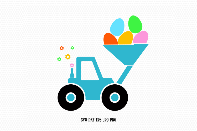 Easter bulldozer Svg example image 1