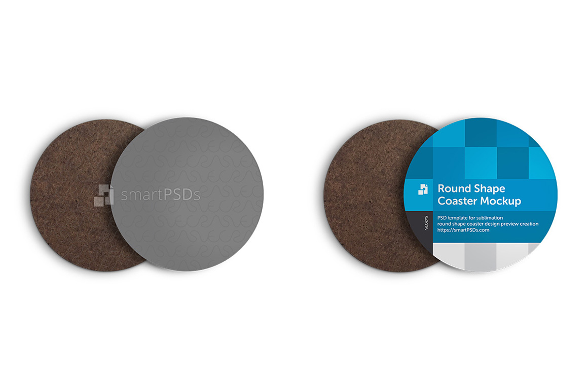Round Shape Coasters Design Mockup example image 1