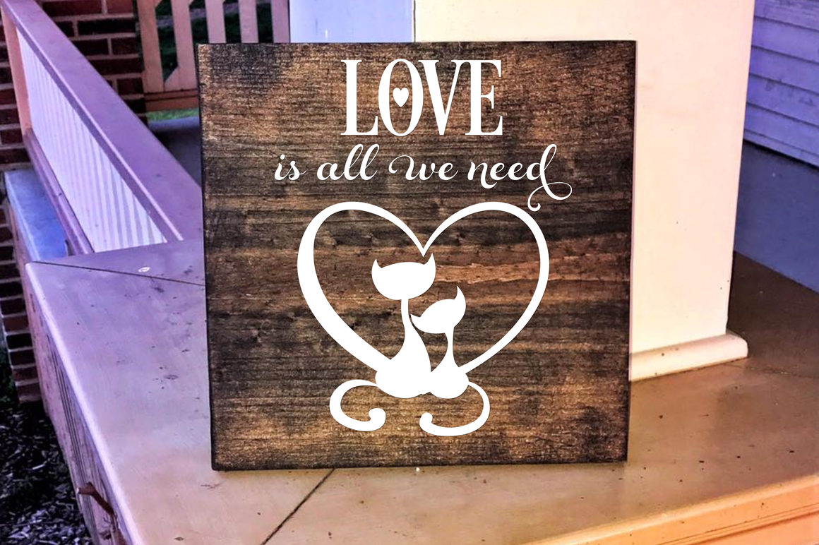 Valentine SVG Cut File - Love is All We Need example image 3