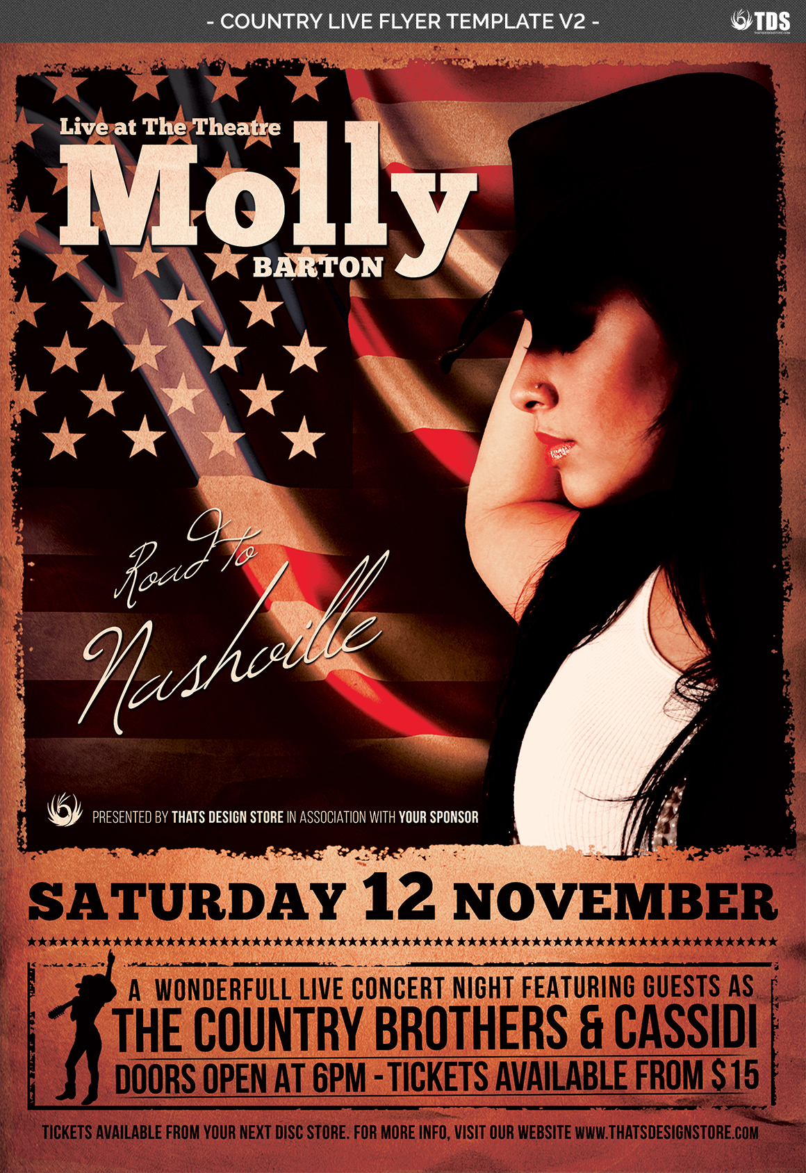 Country Live Flyer Template V2 example image 4