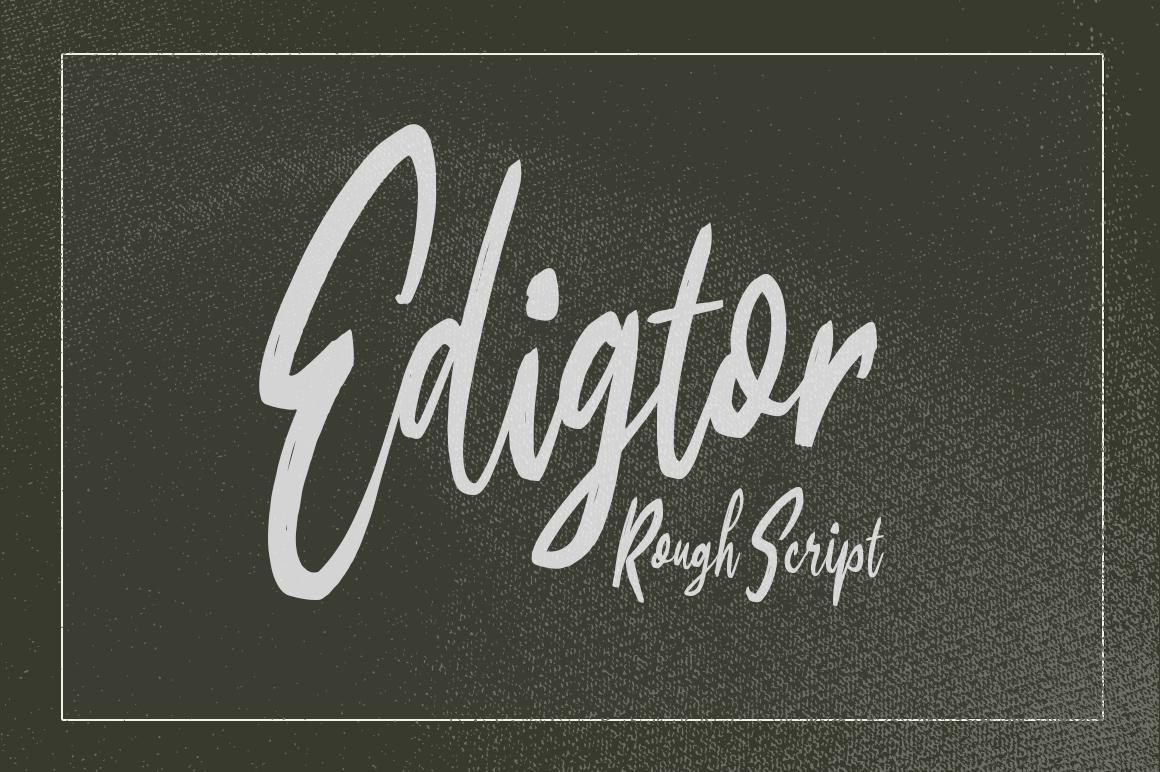 Edigtor - Rough Script example image 1