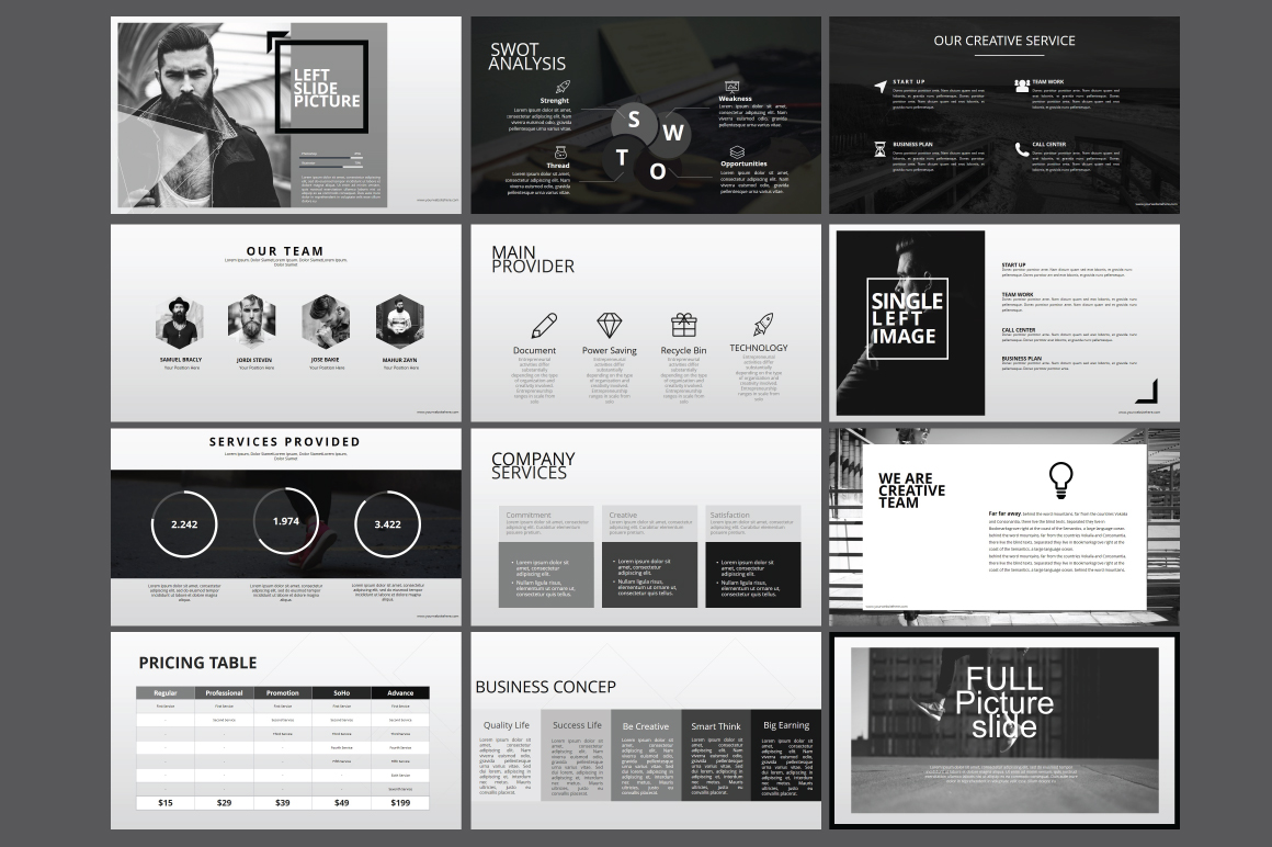 Hipster business Powerpoint Template example image 9