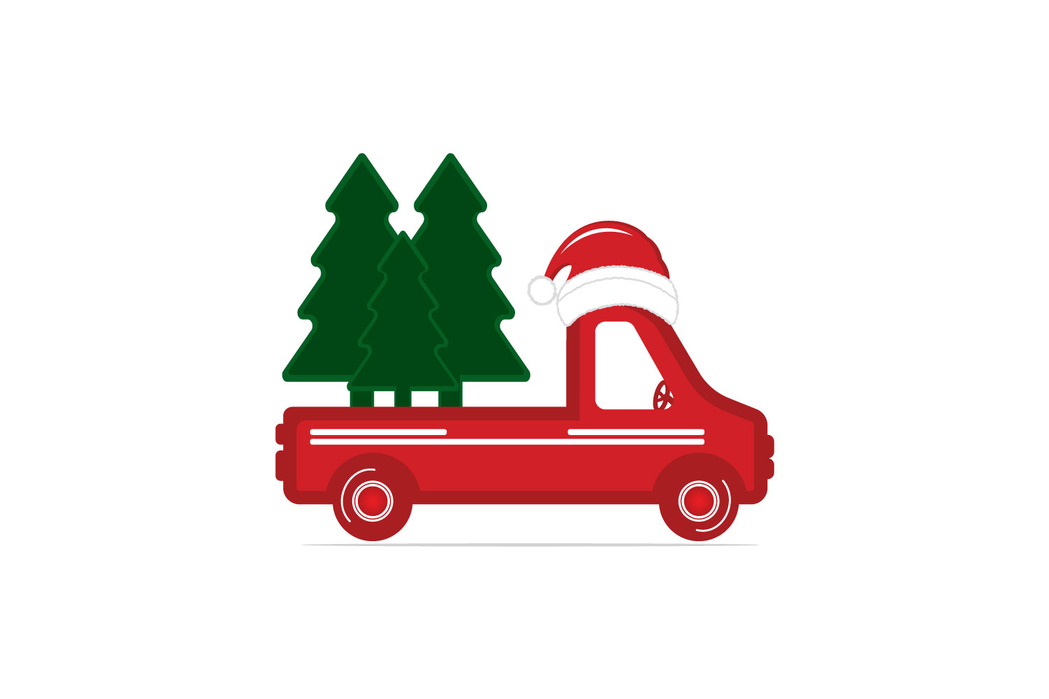 Christmas truck back with tree svg, dxf, pdf, jpeg, png file example image 2