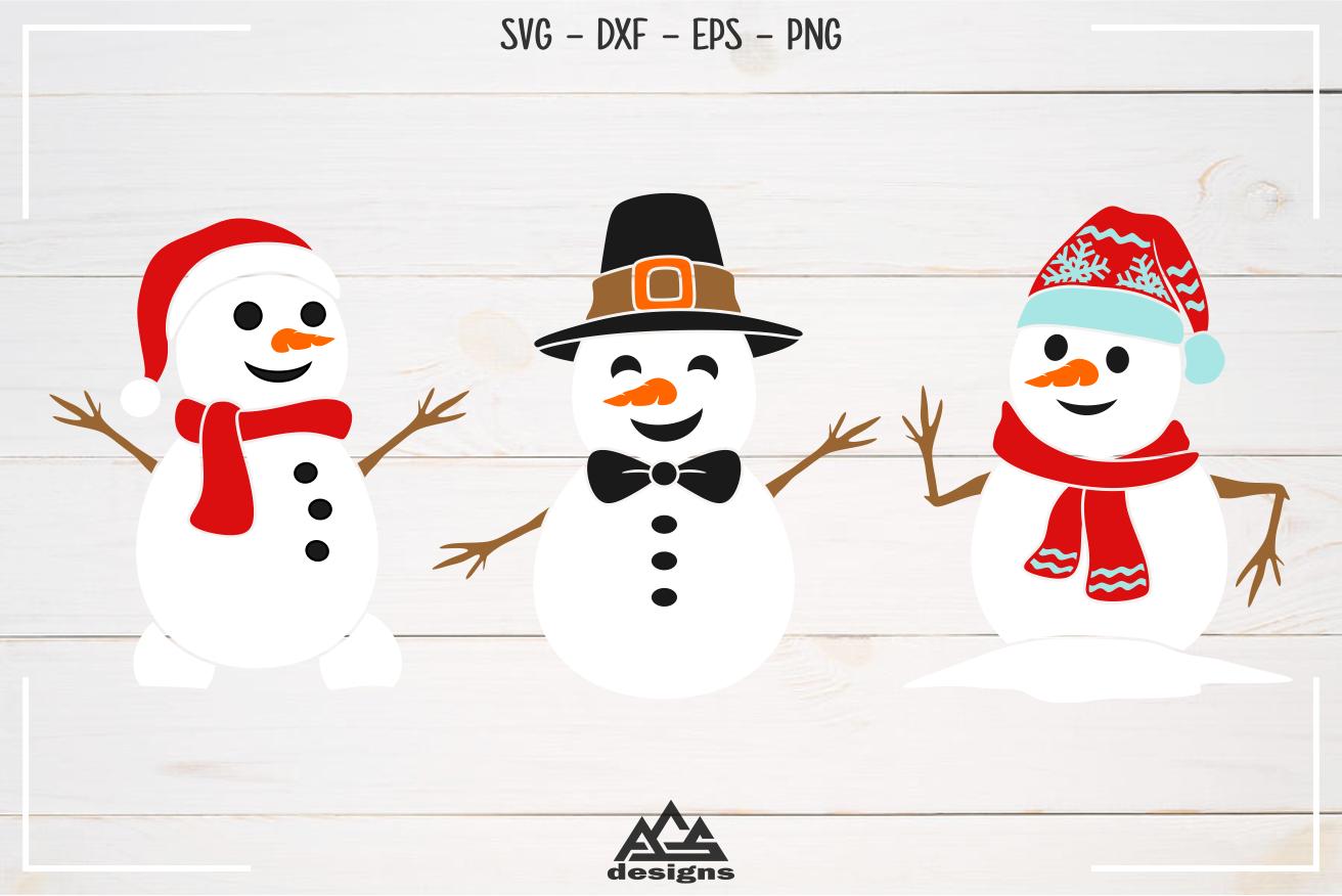 Snowman Winter Packs Svg Design example image 2