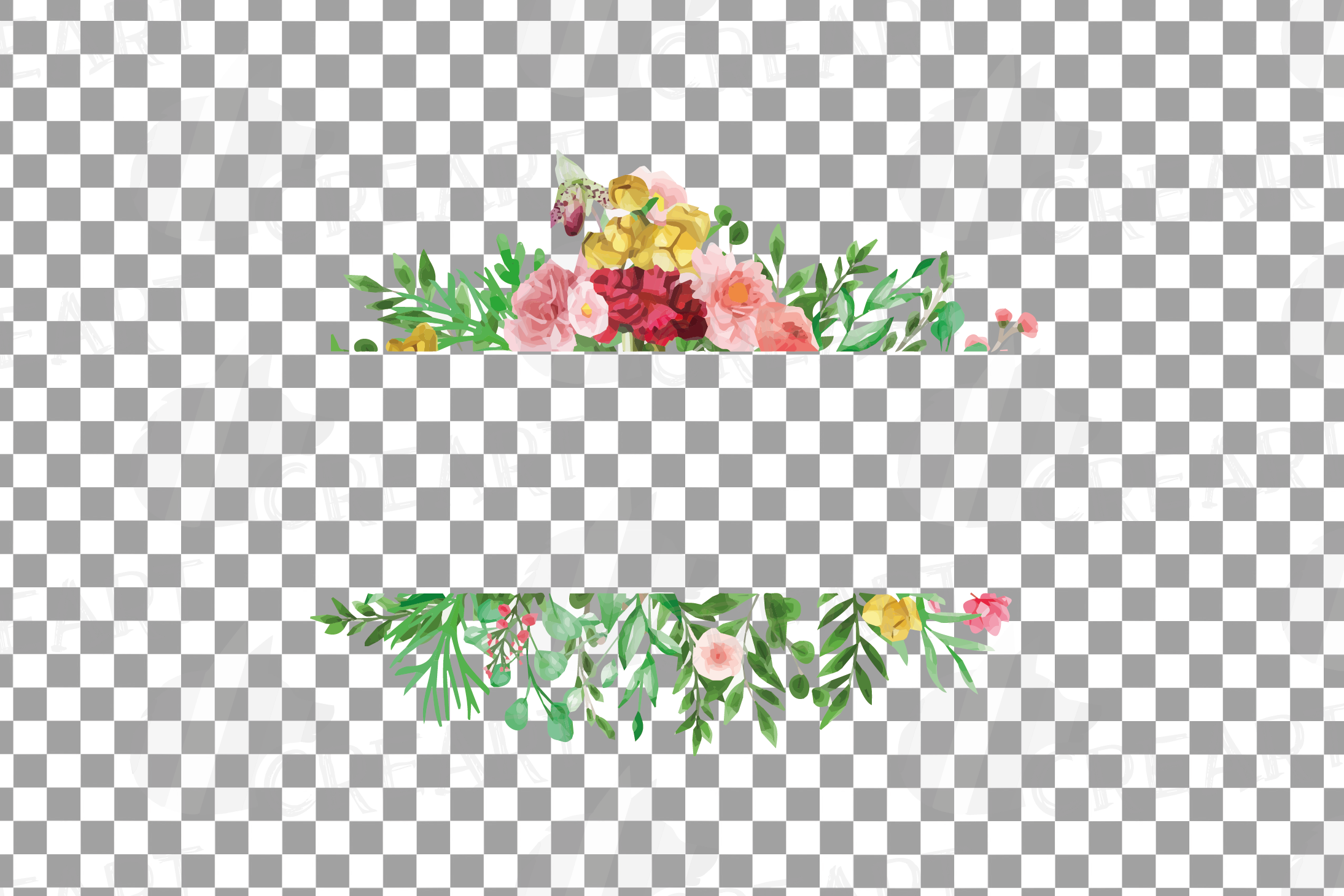 Watercolor floral floral frames and borders clip art pack example image 26