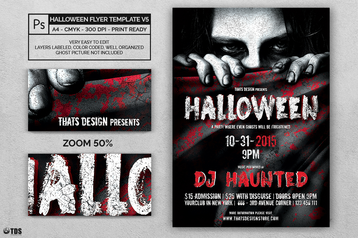 Halloween Flyer Template V5 example image 2