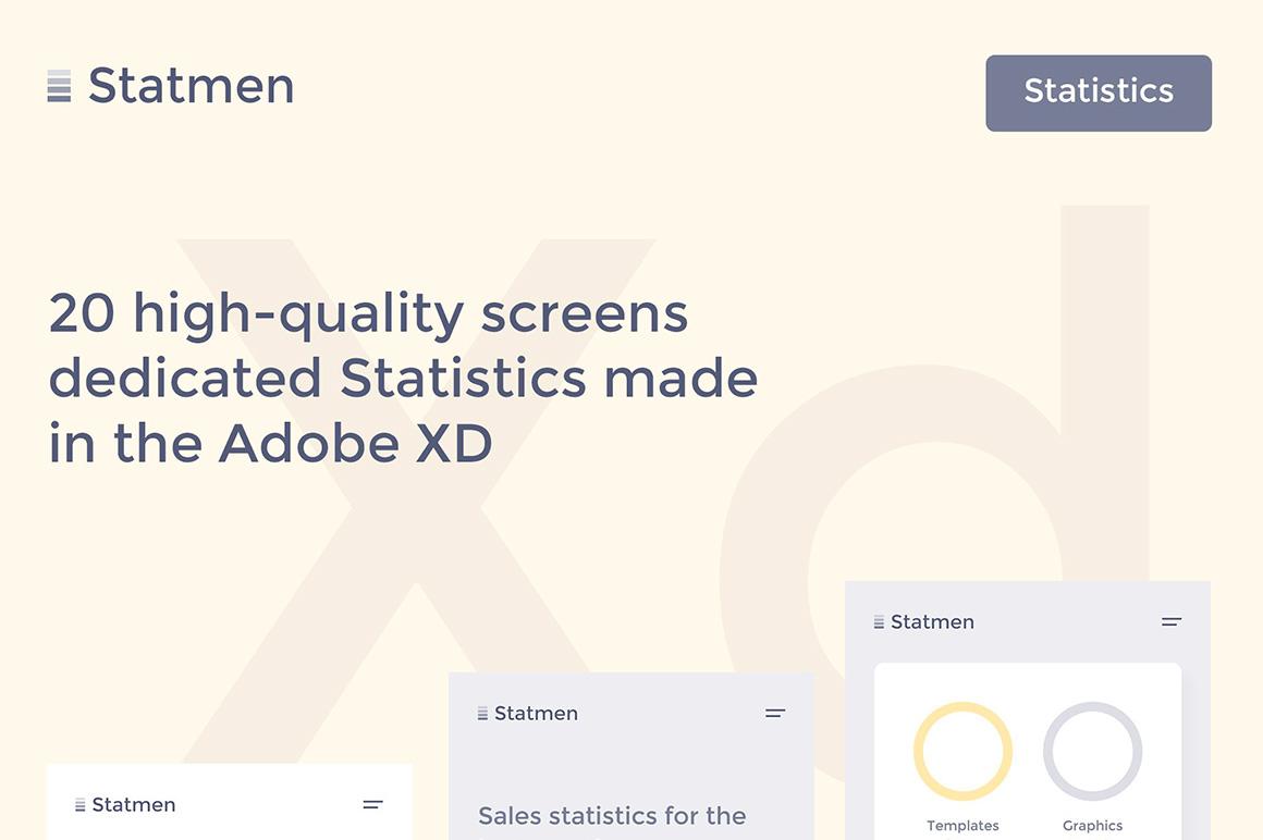 Statmen XD iOS Ui Kit - Statistic example image 2