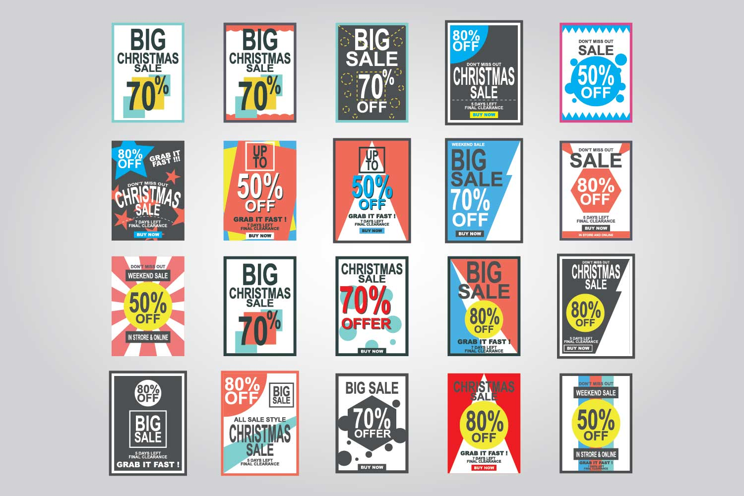 Special Discount template for sale banner poster flyer shop online store example image 1