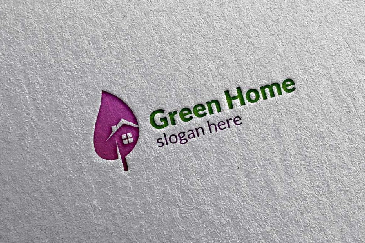 Real estate Logo, Green Home Logo 6 example image 4