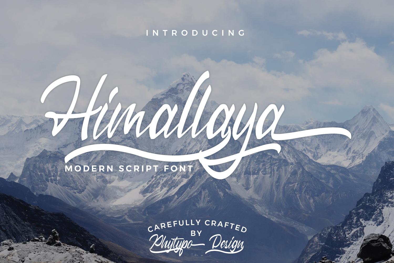 Himallaya Script Font & Swash example image 1