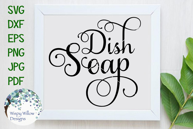 Elegant Dish Soap Label SVG Cut File example image 1