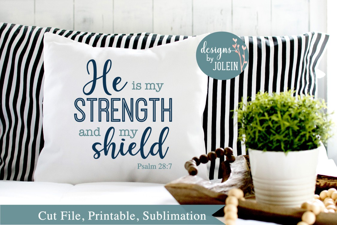 He is my strength SVG, png, eps, sublimation, printable example image 2