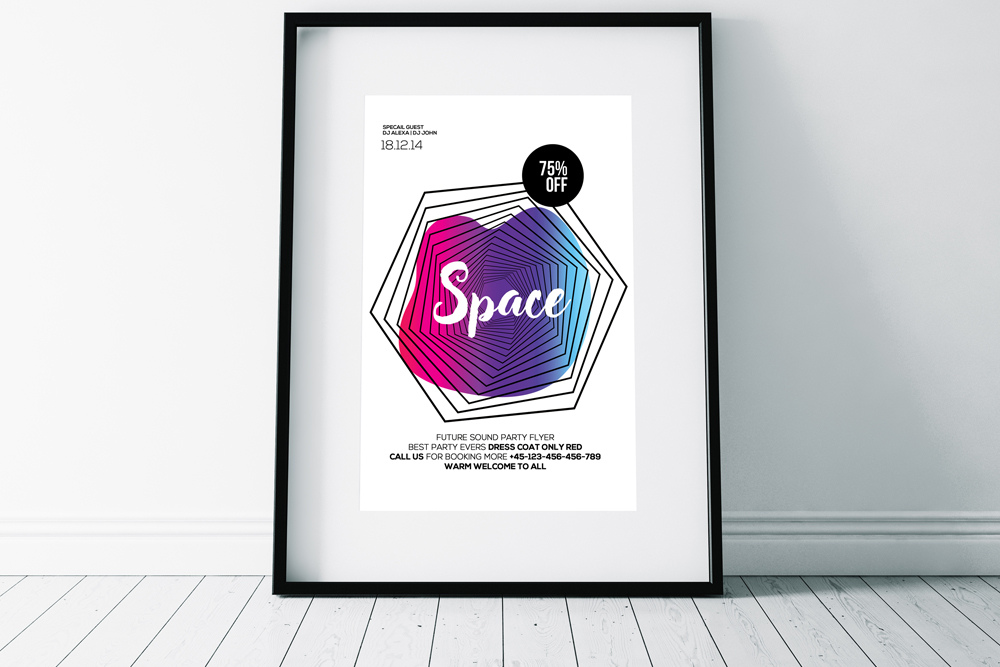 Space Futuristic Flyer Template example image 2
