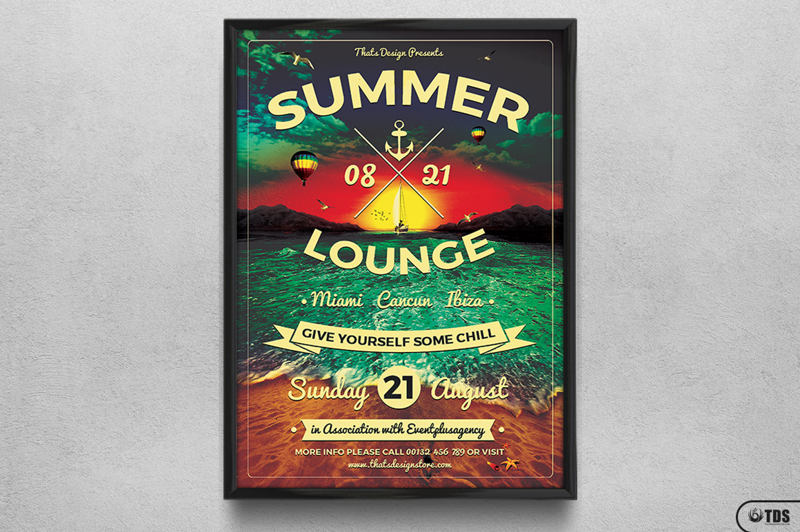 Summer Lounge Flyer Template V3 example image 6