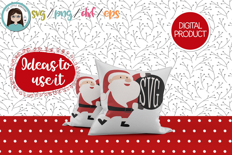 Santa Claus Monogram svg, dxf, png, eps example image 4