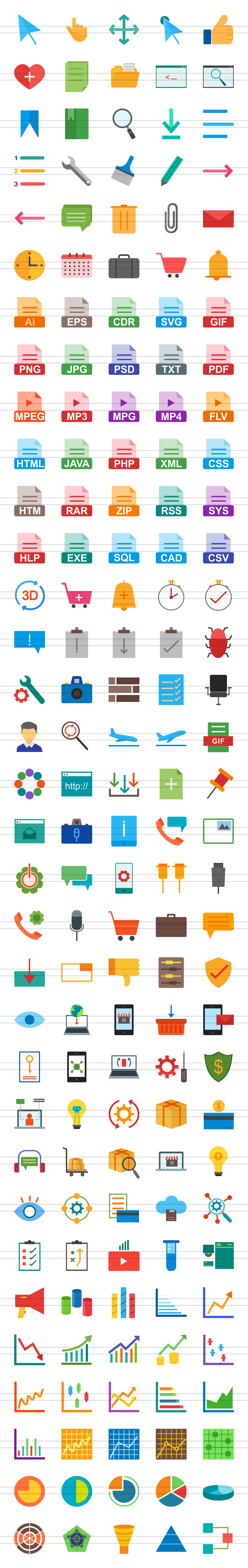 166 Interface Flat Icons example image 2