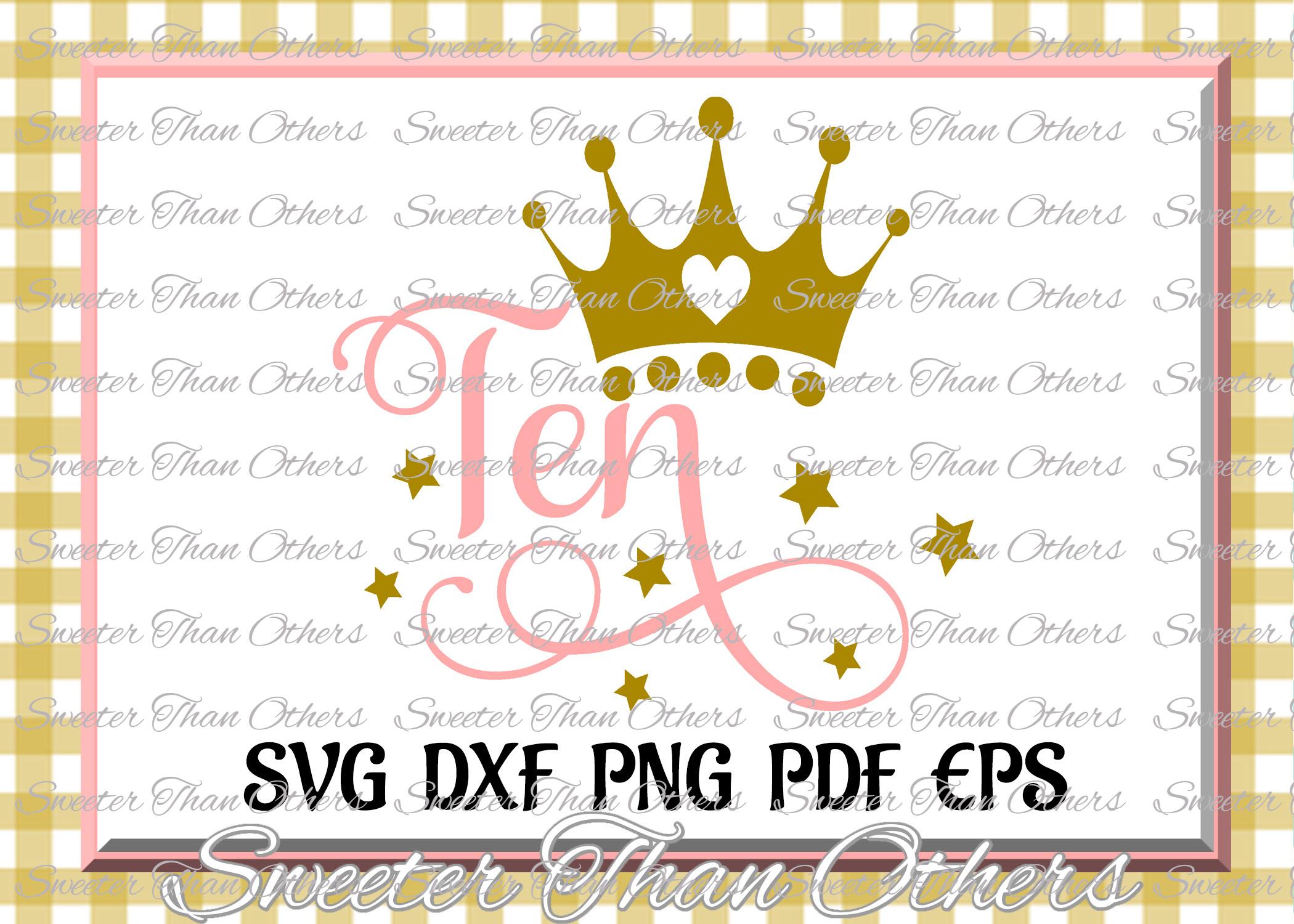 Tenth Birthday SVG, 10th Birthday svg example image 1