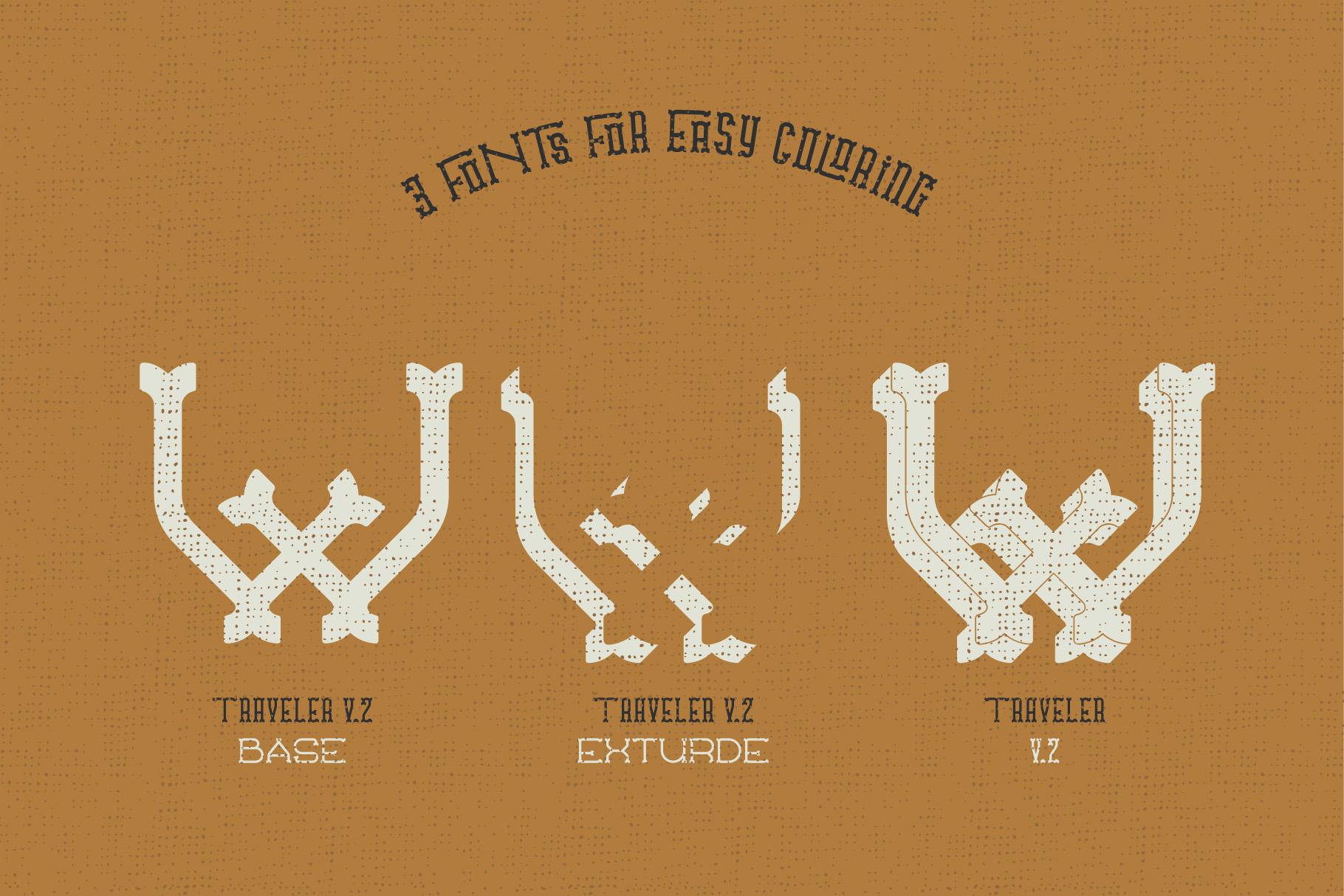 Traveler v.2 typeface example image 7