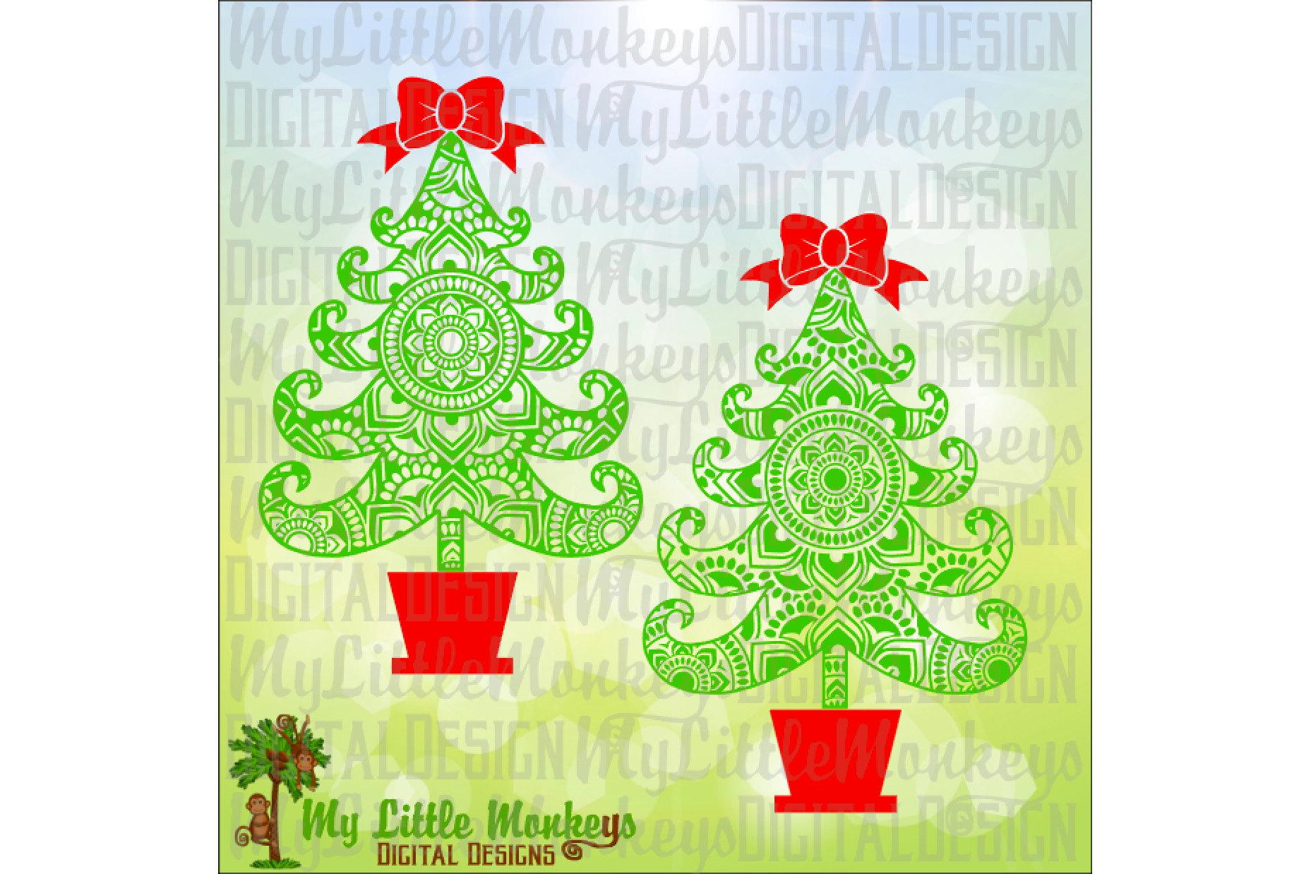 Christmas Tree Mandala example image 1