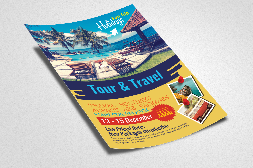 Tours and Travel Flyer Template example image 2