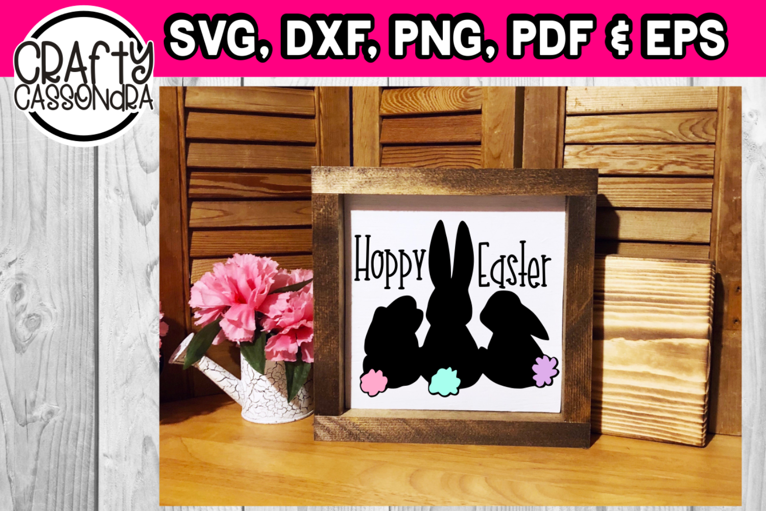 Cotton tail easter bunny svg / dxf example image 1