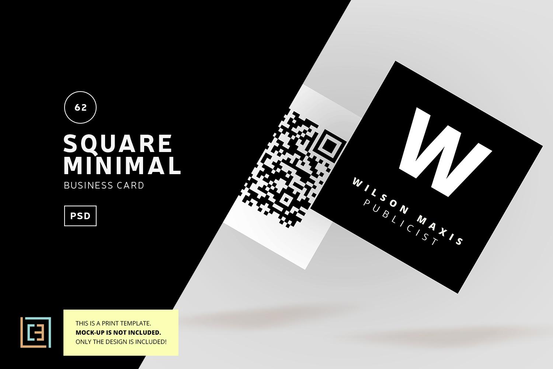 Square minimal business card bc062 by design bundles square minimal business card bc062 example image 1 colourmoves