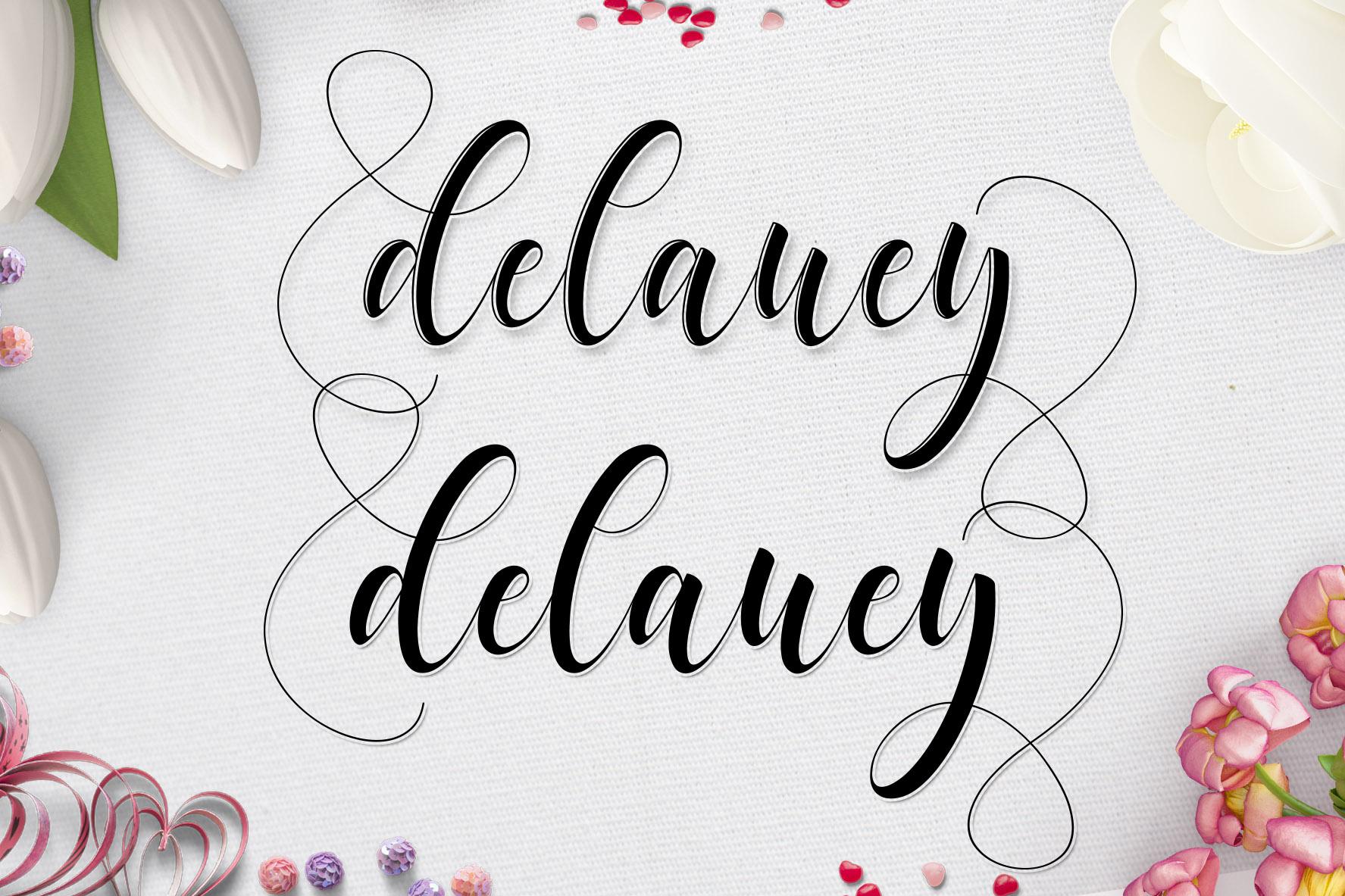Delaney Script example image 2