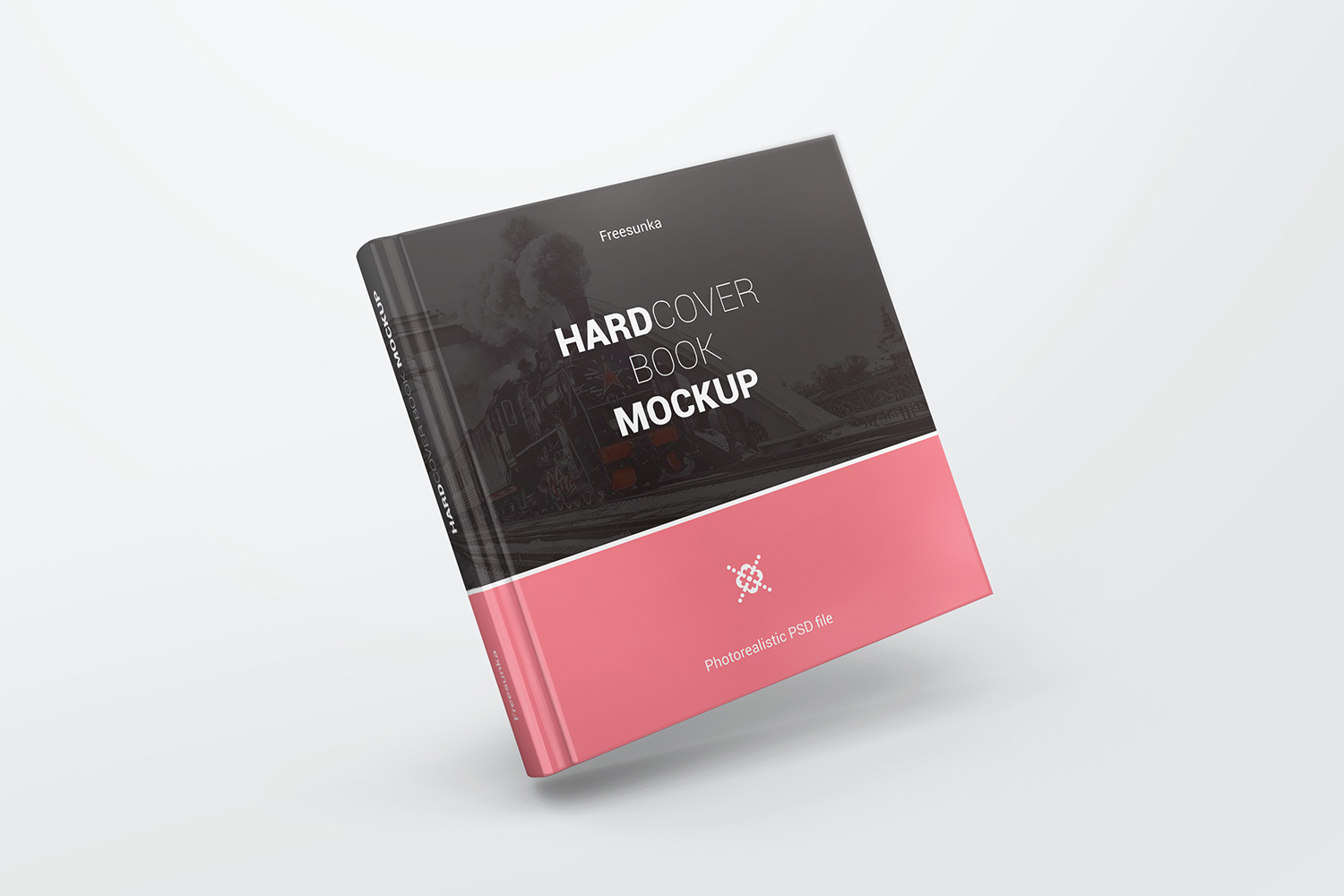 Square Hardcover Book Mockups example image 5