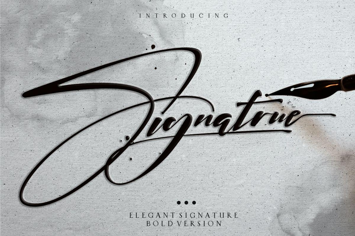 signatrue |elegant signature|bold example image 1