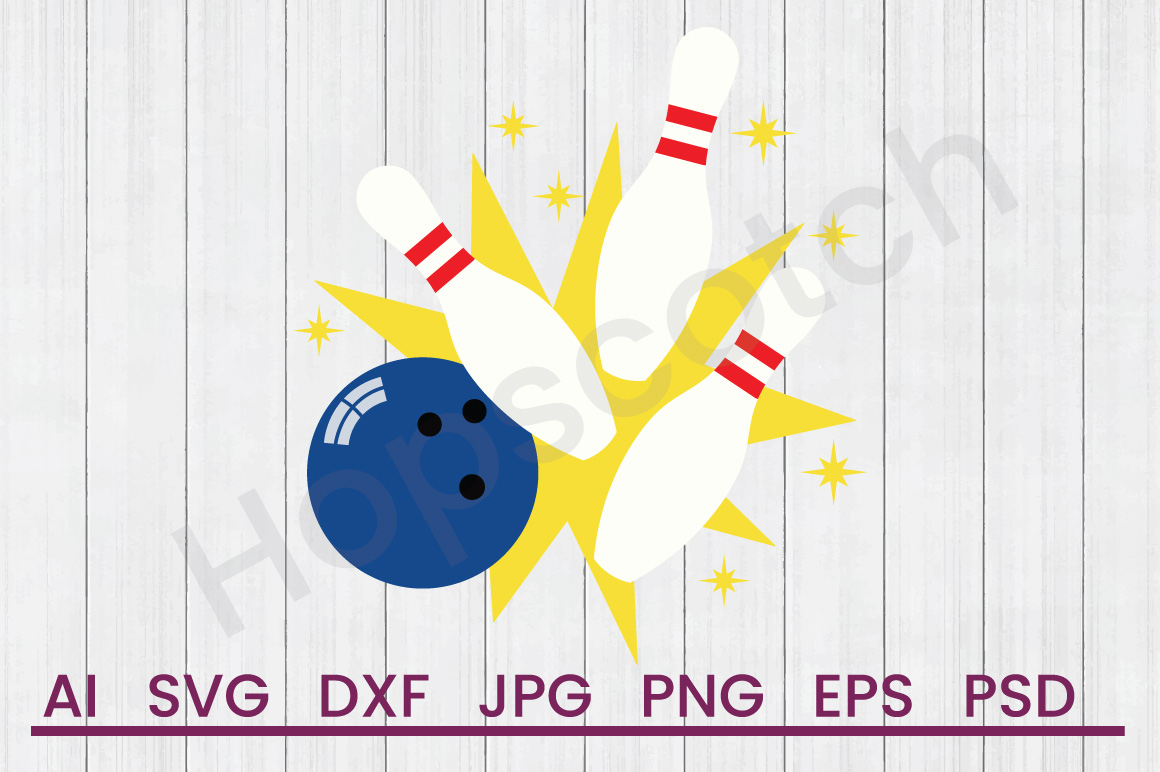 Bowling Pins SVG, DXF File, Cuttatable File example image 1