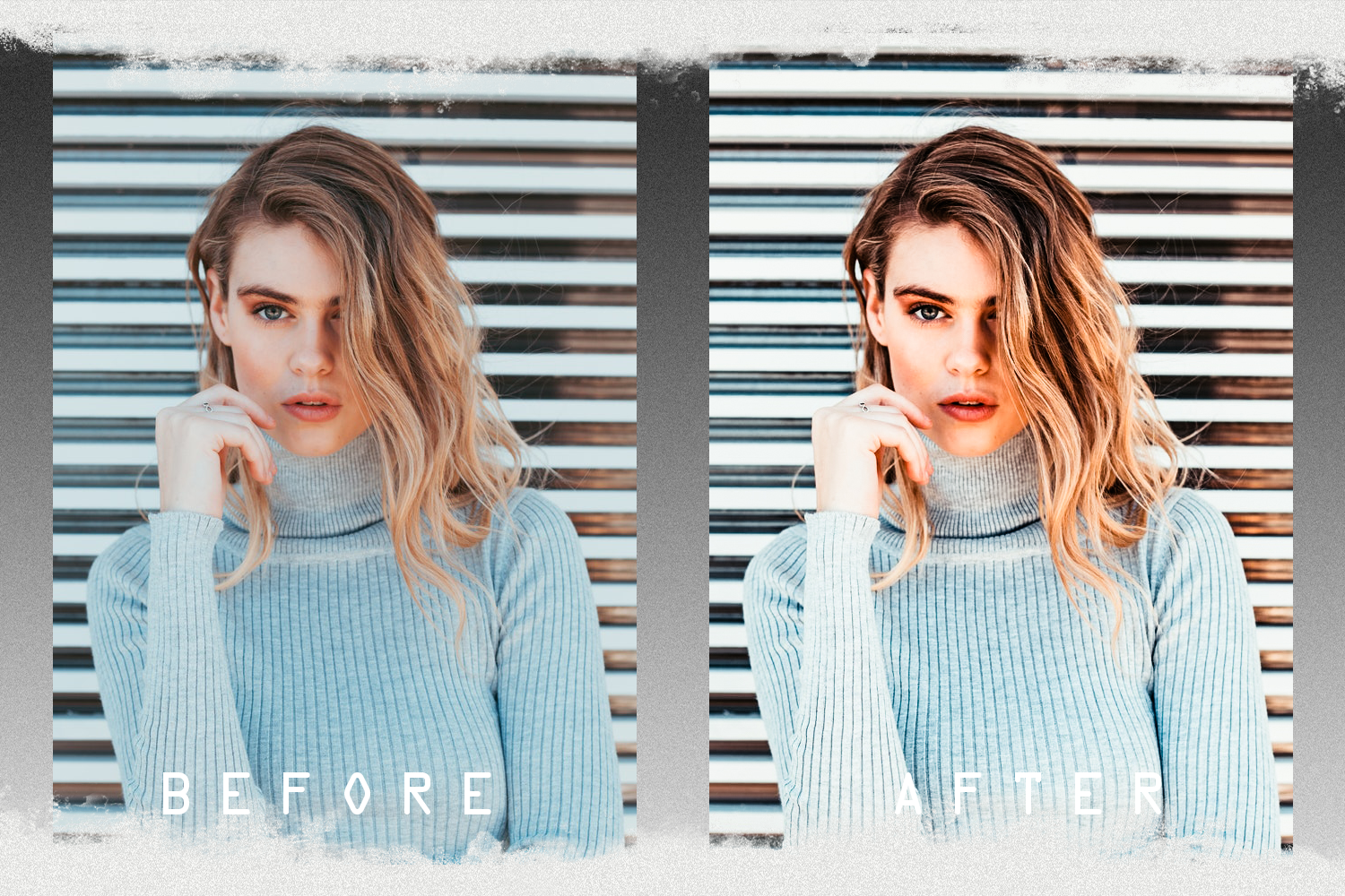 Nude presets for mobile and PC photo filter, photo effect example image 2