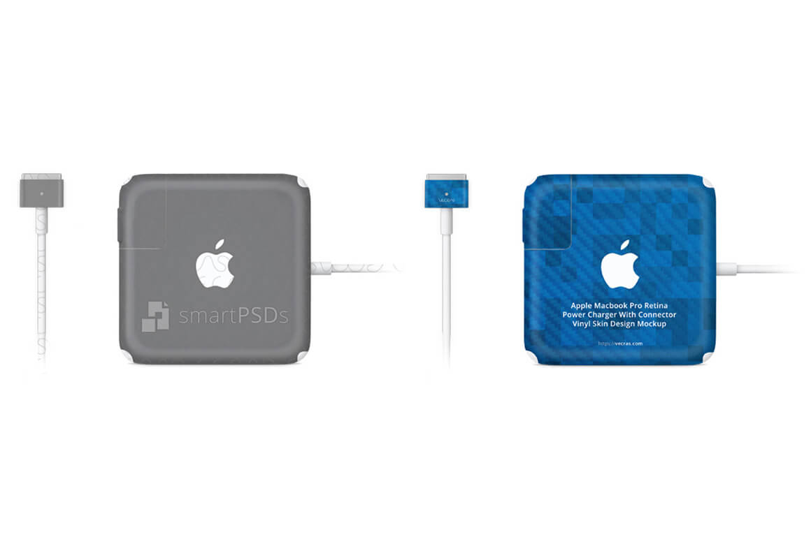 Apple MacBook Pro Retina Power Adapter (Charger with Connector) Vinyl Skin Design Mockup example image 1
