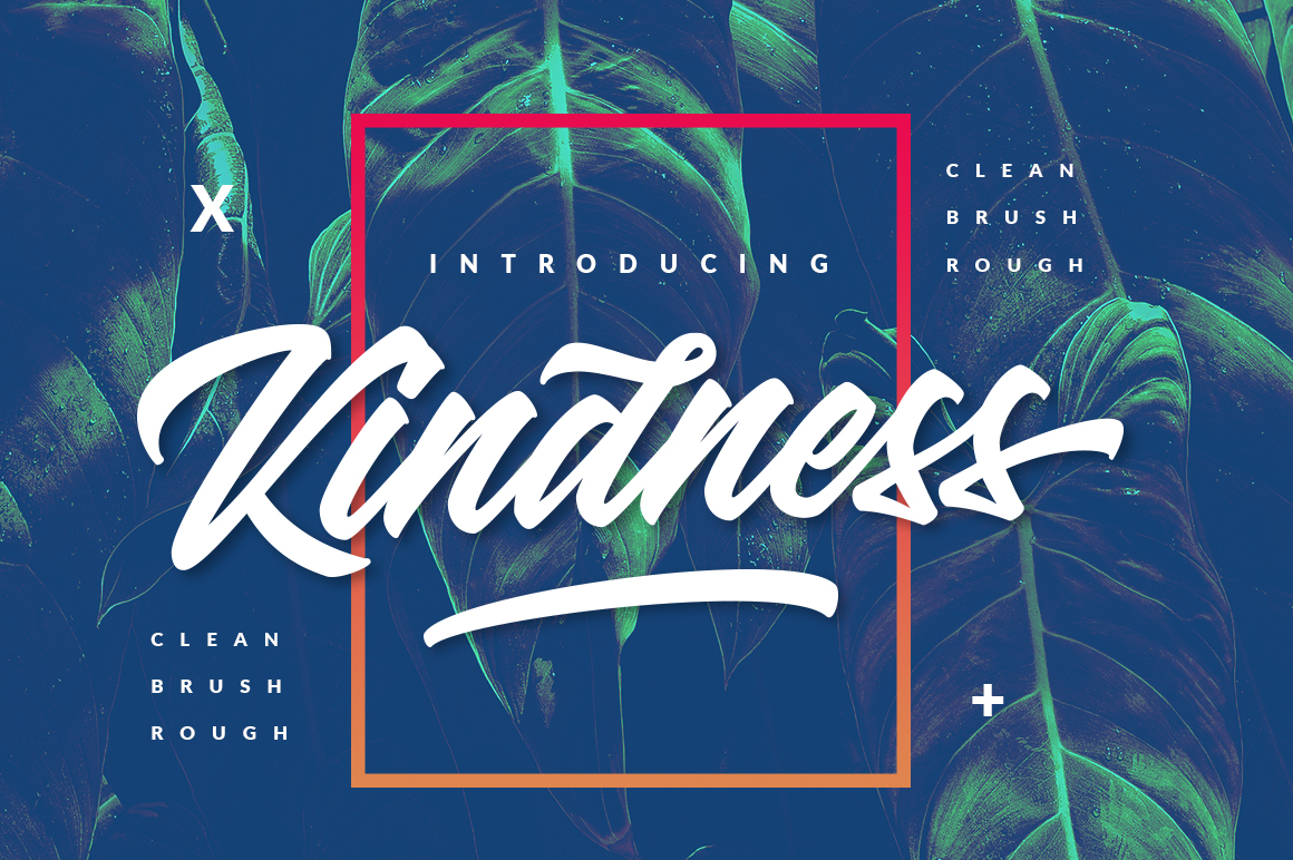 Kindness Typeface - 3 Version Style example image 12