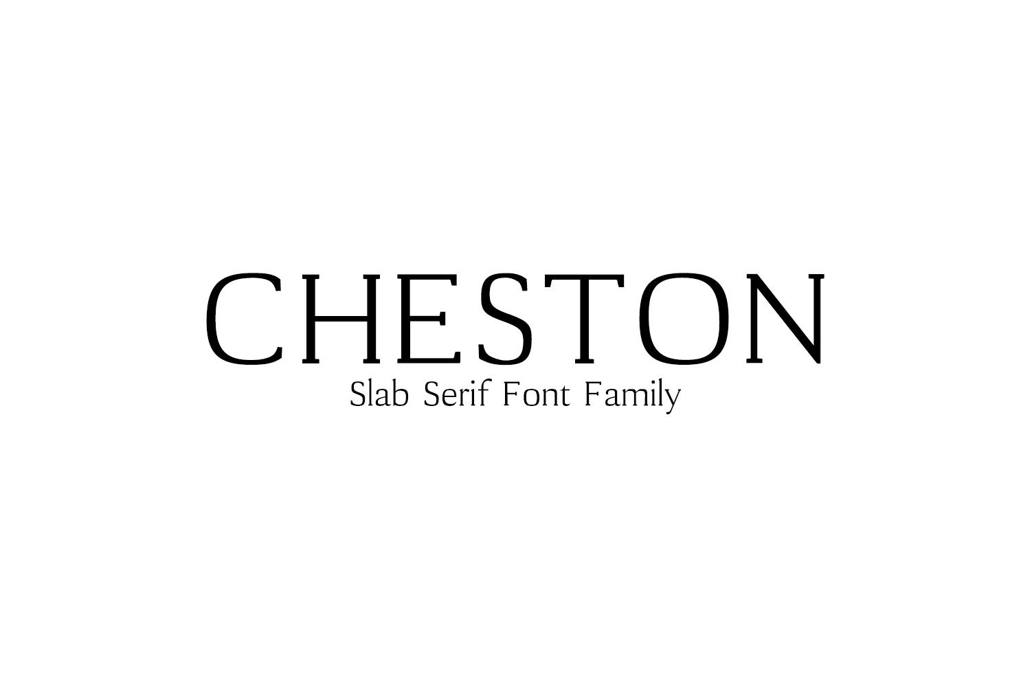 Cheston Slab Serif 5 Font Family example image 1