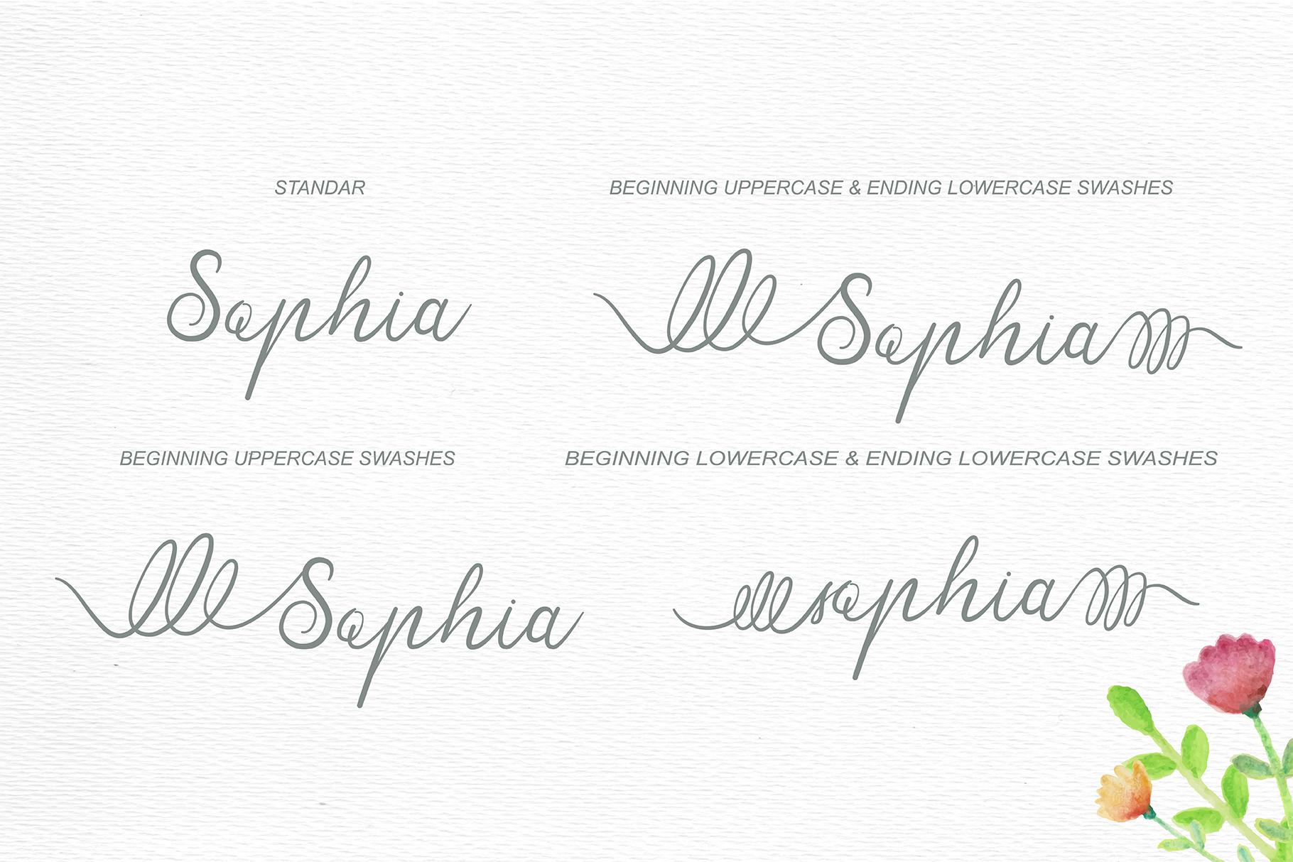 Sensitype - Wedding Font example image 2
