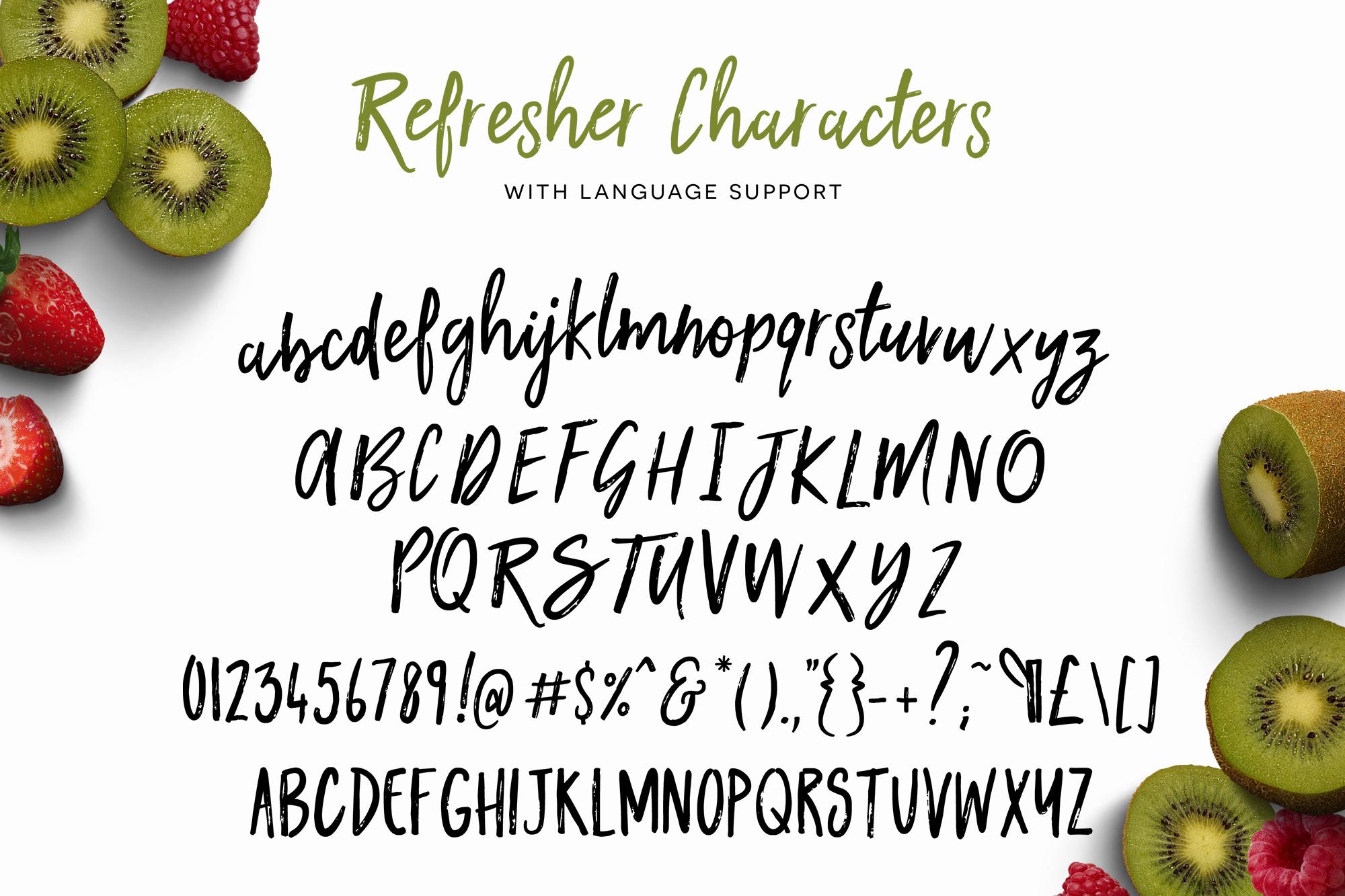 Kiwi Refresher Font Duo example image 4