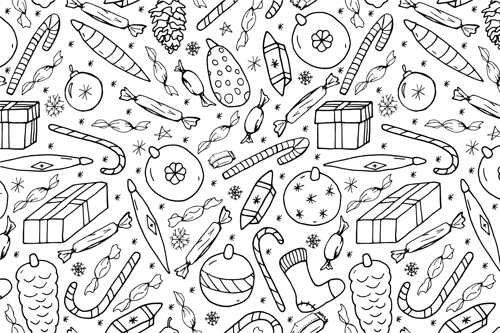 Christmas seamless patterns. example image 15