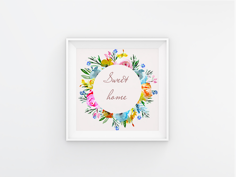 Brigt flowers watercolor clipart sprig floral desin cards example image 4