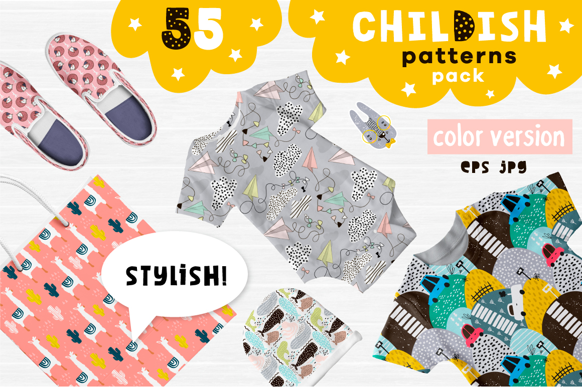 Childish patterns pack vol. 2 example image 1