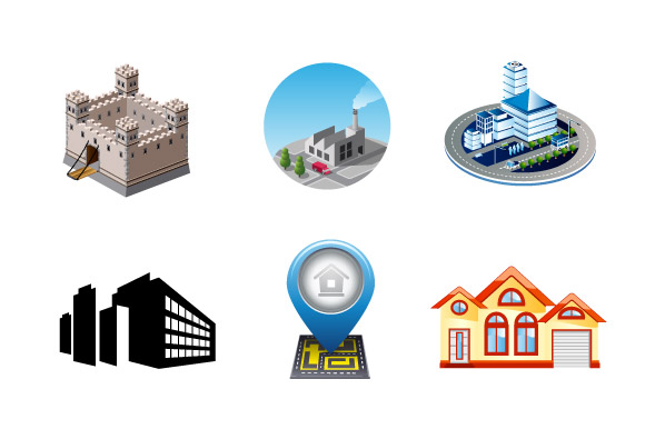 Vector industrial and city buildings example image 2