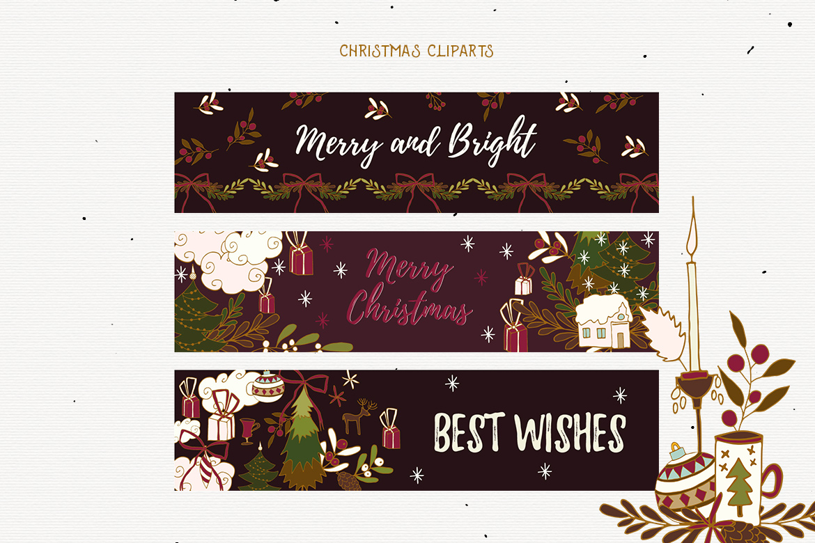 Christmas Cliparts example image 3
