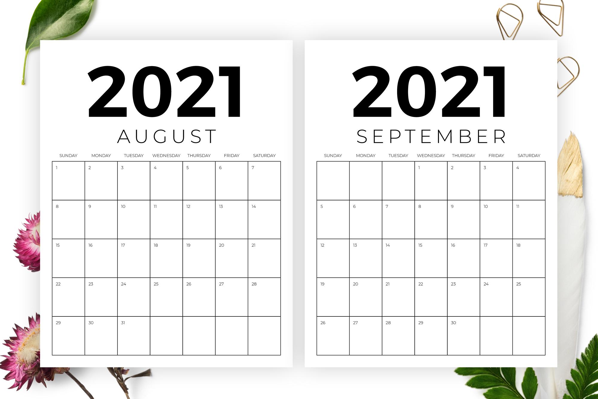 Vertical 8.5 x 11 Inch 2021 Calendar example image 5