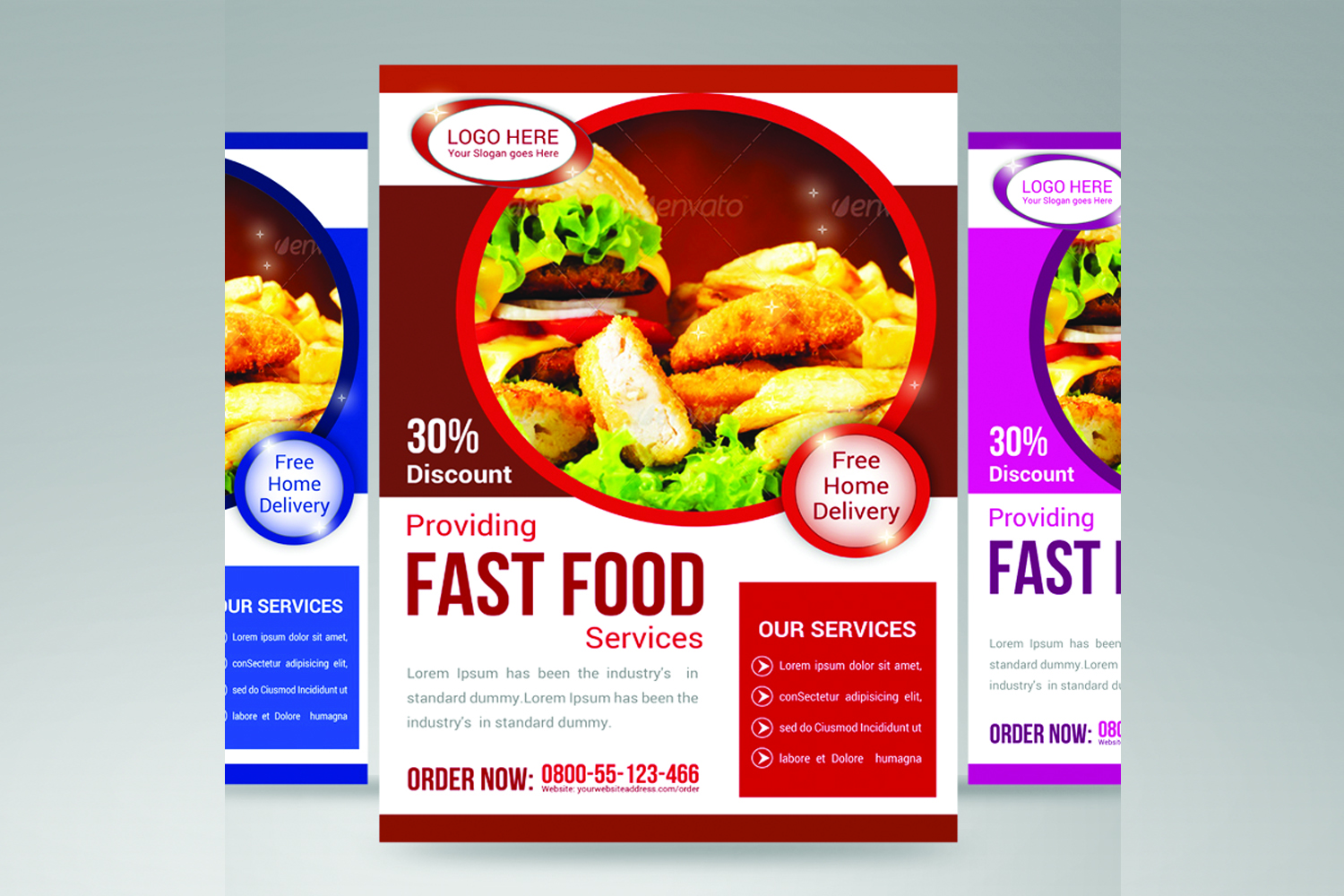 fast food flyer example image 1