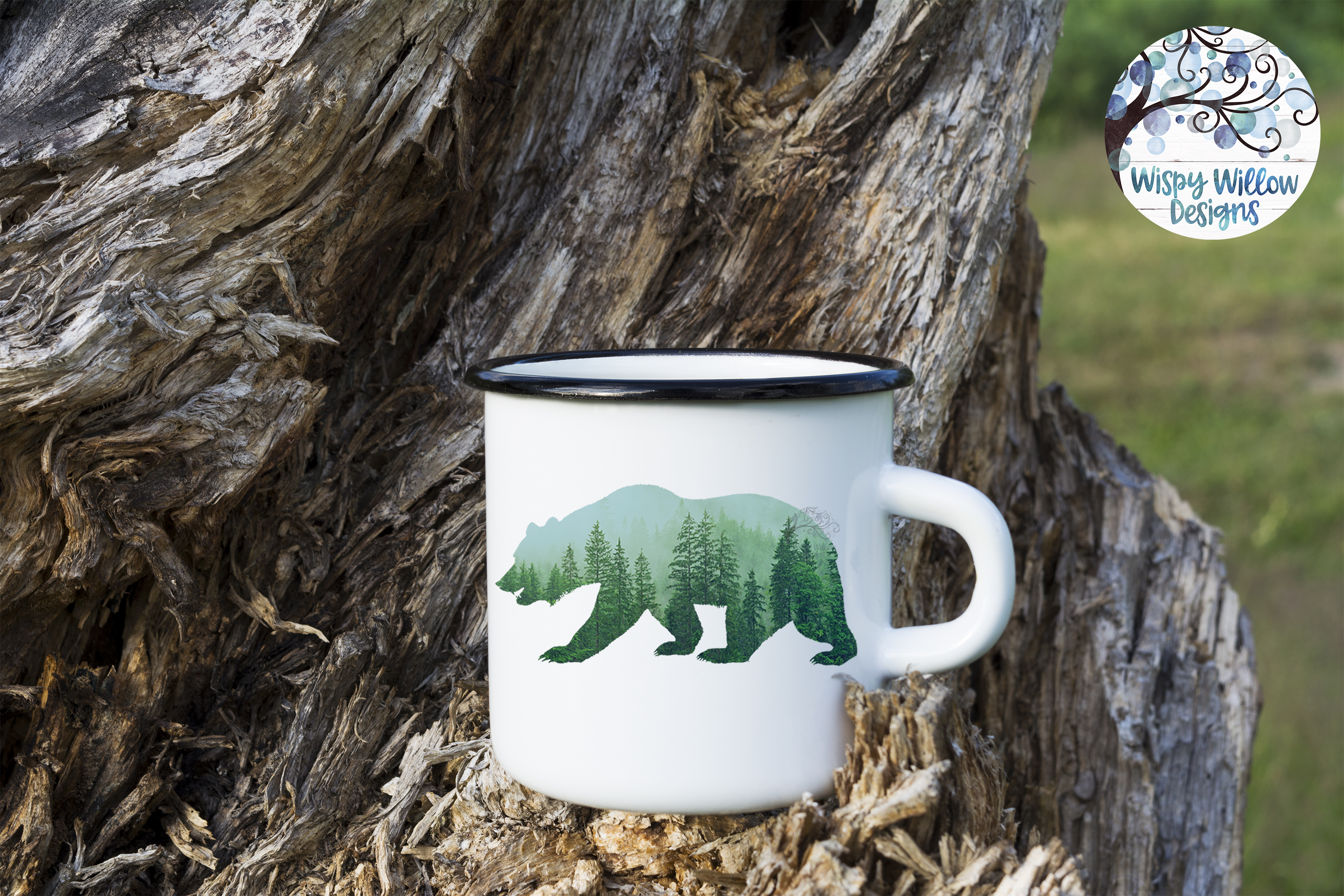 Forest Bear PNG | Sublimation | Clipart example image 2
