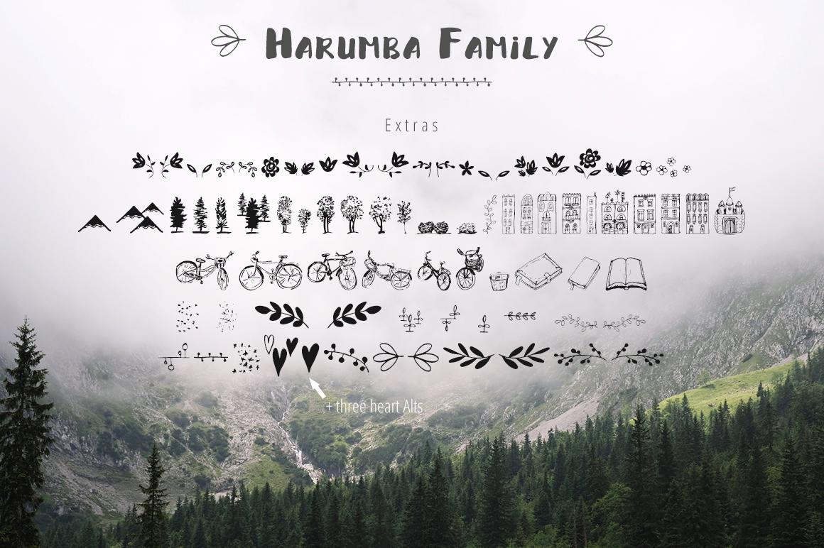 Harumba Brush font example image 5