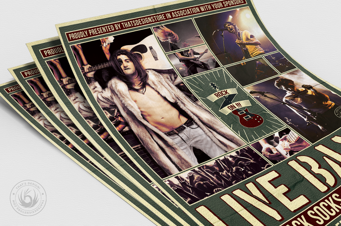 Live Concert Flyer Template V6 example image 5