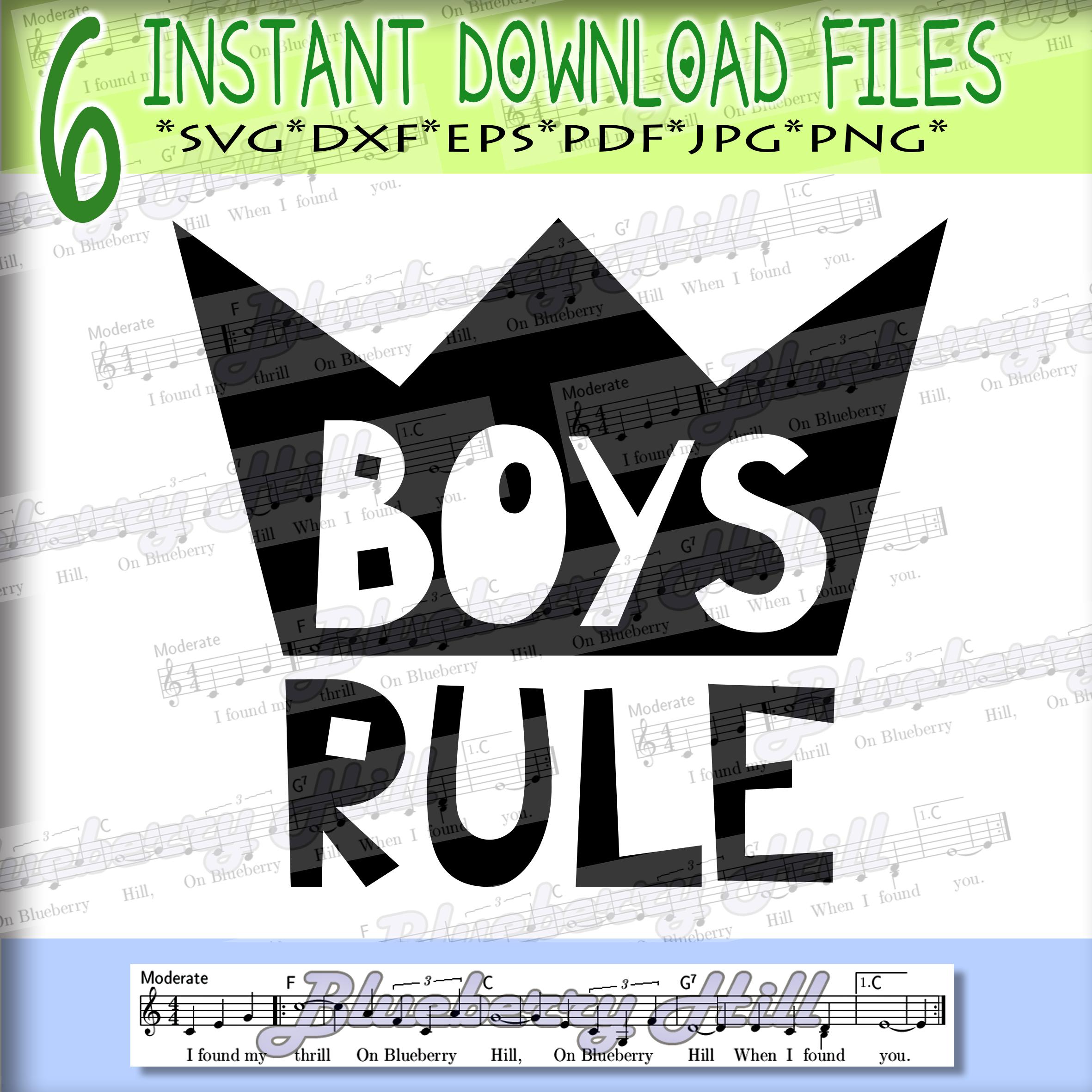 Girls rule Svg - Boys rule Svg -Digital Files - Svg digital example image 3