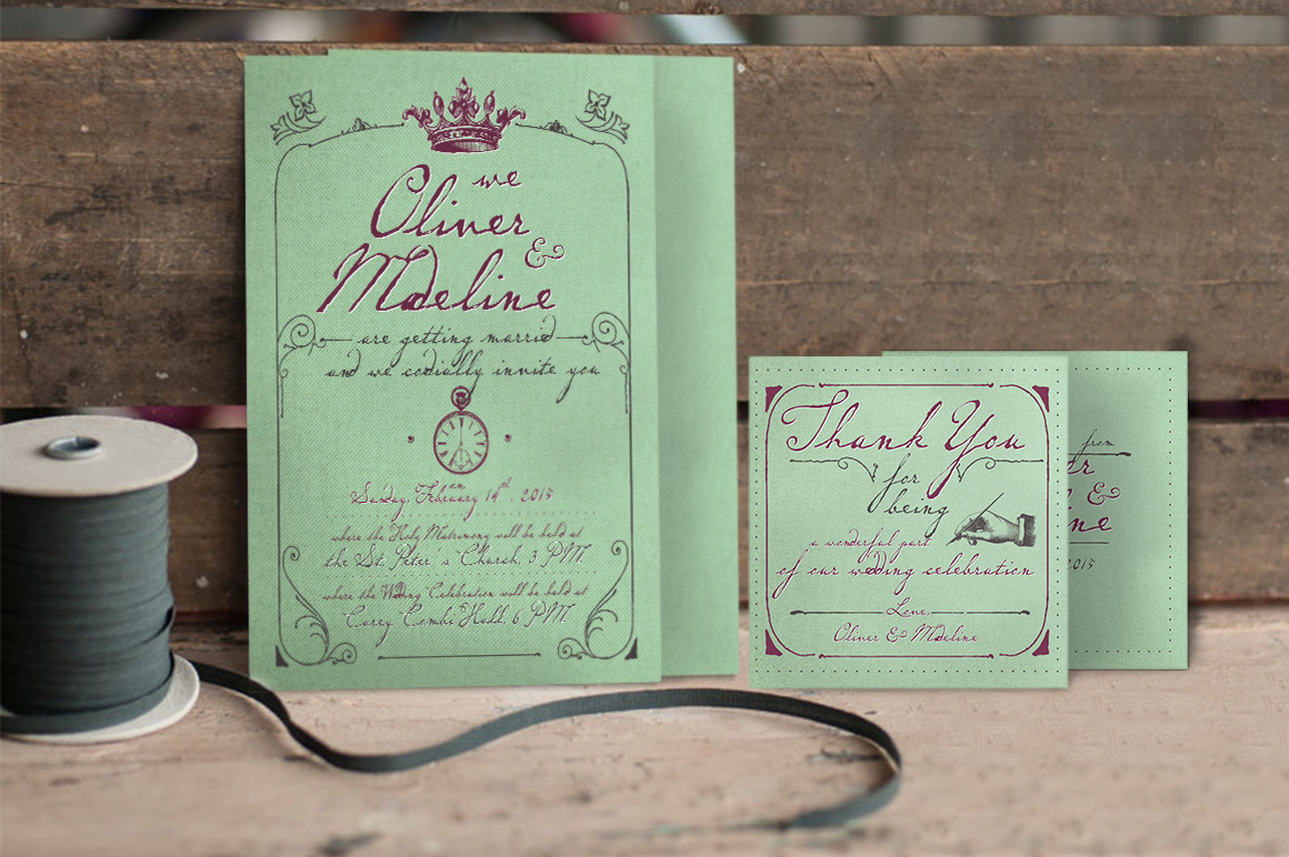 1900 Paris Wedding Invitation example image 3