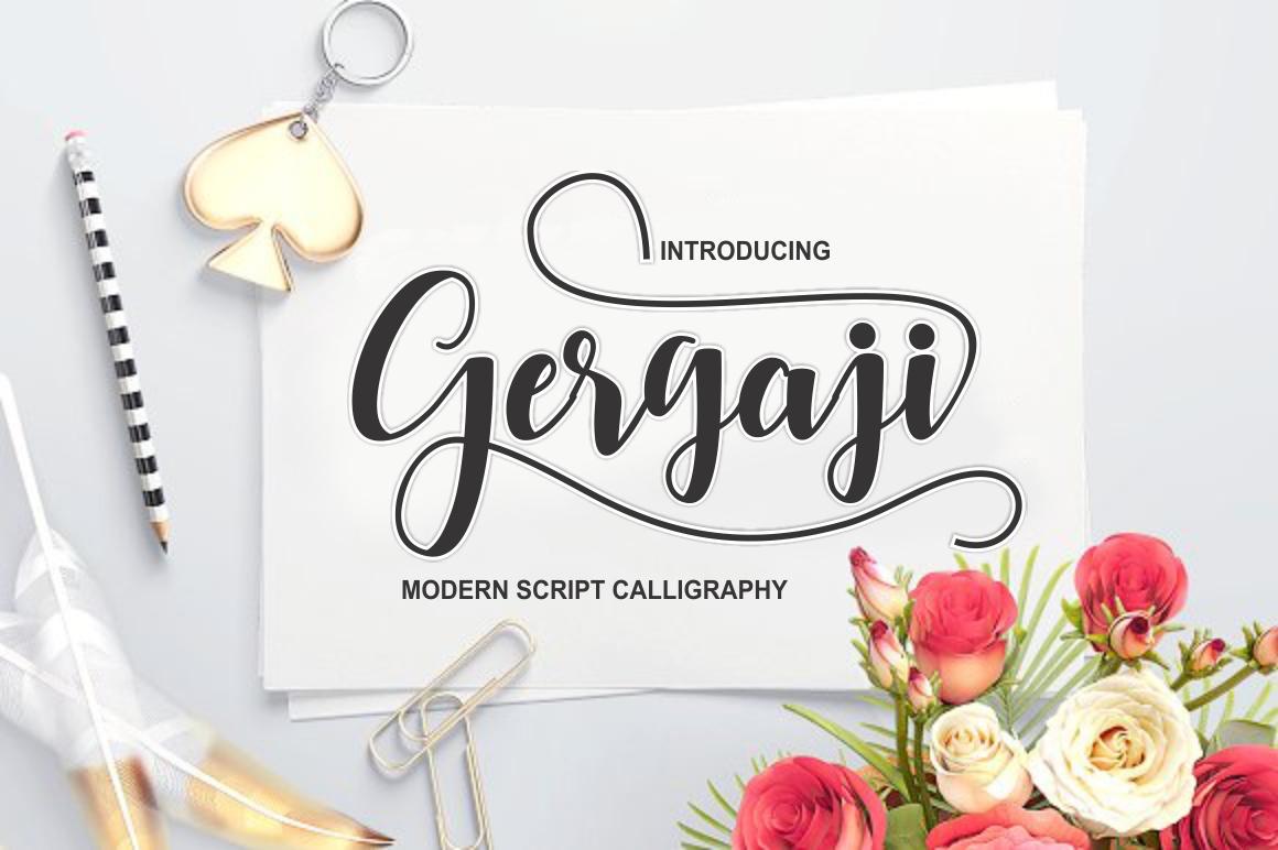 gergaji script font example image 1