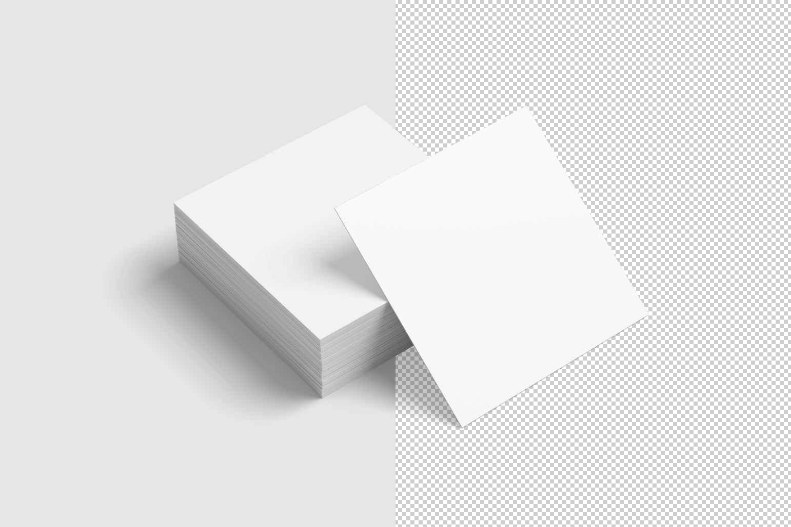 Square Business Card Mockup example image 11